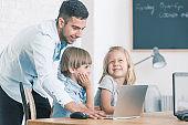 IT teacher learning kids