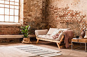 Vintage brick wall interior