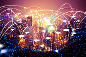 futuristic Hong kong electromagnetic signals