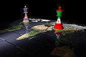 USA and Iran Chess Standoff