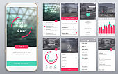 Design of the mobile application, UI, UX, GUI.