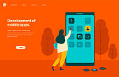 Development of mobile apps. Landing page template.
