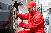 ar service worker changing wheel