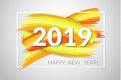 2019 New Year . Vector illustration