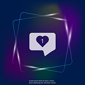 Like, comment, social activity vector neon light icon. The hand presses on the likes. Layers grouped for easy editing illustration. For your design.