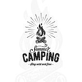 Camping summer white