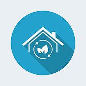 Green house - Vector web icon
