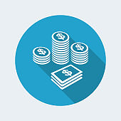 Earnings - Dollars - Vector web icon