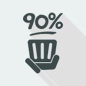 90% label