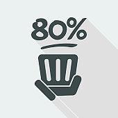 80% label