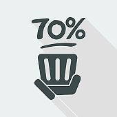 70% label