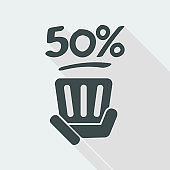 50% label