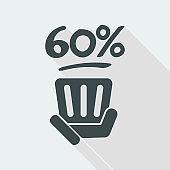 60% label