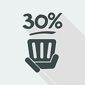 30% label