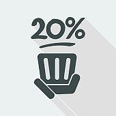 20% label
