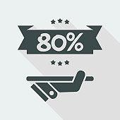 80% Label icon