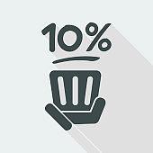 10% label