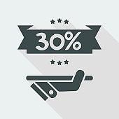 30% Label icon