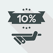 10% Label icon