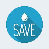 Save the nature minimal concept - Vector web icon