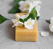 Natural jasmine soap, handmade natural soap