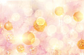 Glamour and blur defocus bokeh of light and locor background with copy space