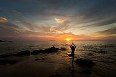 Thai sunset yoga on Kradan