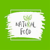 Vector eco, bio green logo or sign.