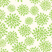 Vector green pattern for eco logo or sign.