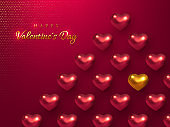 Valentines day holiday horizontal banner.