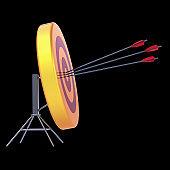 Arrows target sniper shooting bulls eye