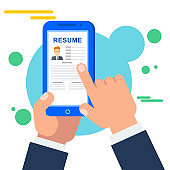 Search for staff for a job online in the mobile job search application