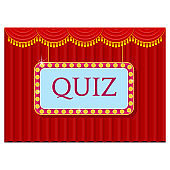 Young cheerful people participate in entertainment quiz.