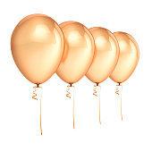 Balloons 4 golden party birthday decoration blank