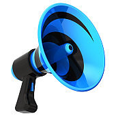 Megaphone loudspeaker news blog communication symbol