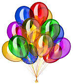 Party balloon happy birthday decoration festive colorful glossy