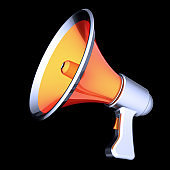 Megaphone news blog propaganda communication loudspeaker