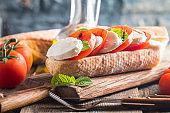 Caprese sandwiches with pesto