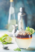 Refreshing layer cocktail