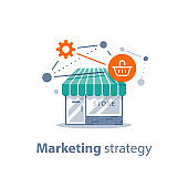Online shopping technology, marketing strategy, retail development, store front