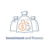 Income growth, fund management, investment strategy, long term investing, loan concept, pension savings