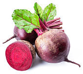 Red beets or beetroots.