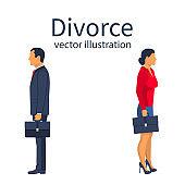 Divorce concept. Breakup concept.