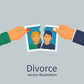 Divorce concept. Break up