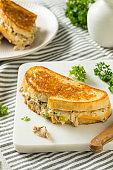 Homemade Toasted Tuna Melt Sandwich