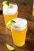 Alcoholic Refreshing Mexican Beer with Lime