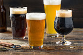 Refreshing Cold Craft Beer Assortment