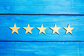 fifth star. Quality status is five stars. A new star, achievement, universal recognition.The critic determines the rating of the restaurant, hotel, institution. Quality mark.
