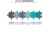 Business data, chart. Abstract elements of graph, diagram with 6 steps, strategy, options, parts or processes. Vector business template for presentation. Creative concept for infographic.