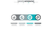 Business data. Process chart. Abstract elements of graph, diagram with 4 steps, options, parts or processes. Vector business template for presentation. Concept for infographic.Vector